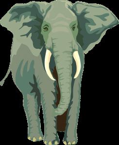 Elefant som symboliserar Däggdjurshjärnan