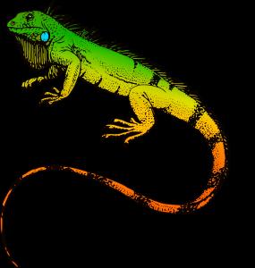 Reptil som symboliserar Reptilhjärnan